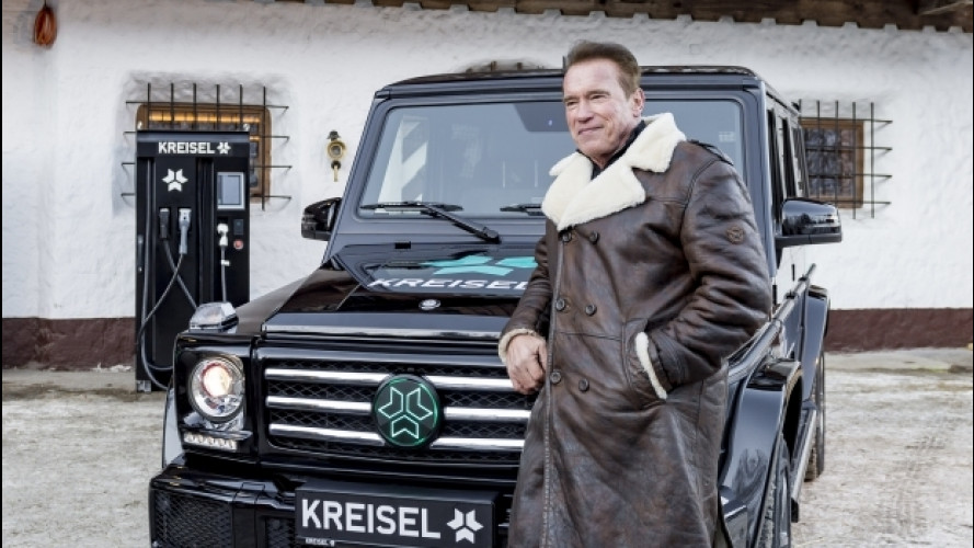 Mercedes Classe G, elettrica per Schwarzenegger