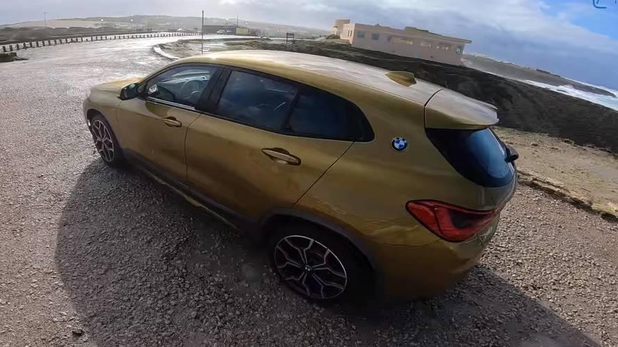 BMW X2 dizelin hızlanma videosu