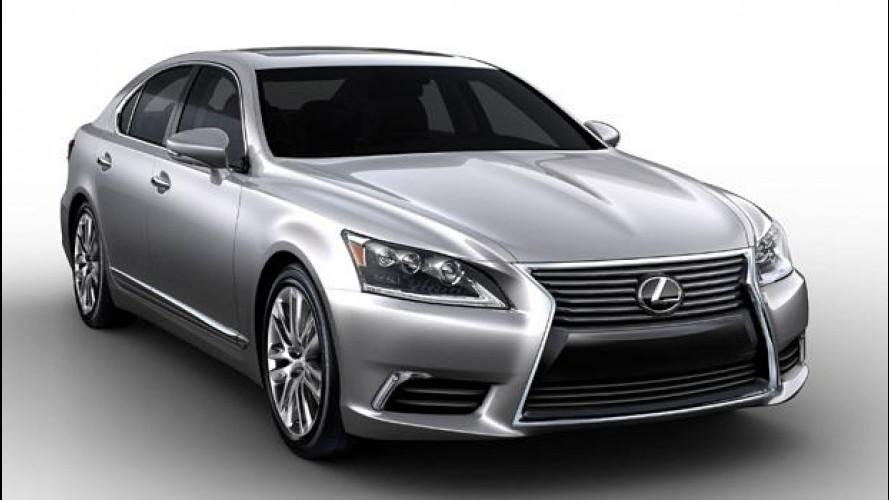 Lexus LS restyling, nuove immagini
