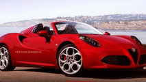Alfa Romeo 4C Spider render / X-Tomi