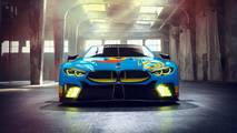 BMW M8 GTE Art Car Rendering