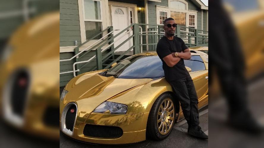 Actor Jamie Foxx Turns His Bugatti Veyron Into A Golden Egg