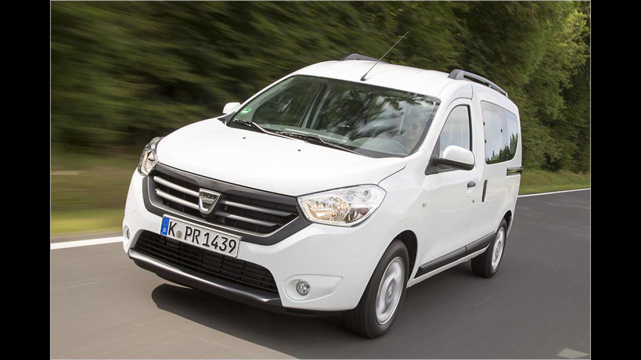 Dacia Dokker SCe 100, 102 PS: 8.990 Euro