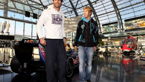 Arrival of the Red Bull Racing Team at Hangar 7, Sebastian Vettel (GER), Mark Webber (AUS), 15.11.2010 Salzburg, Austria