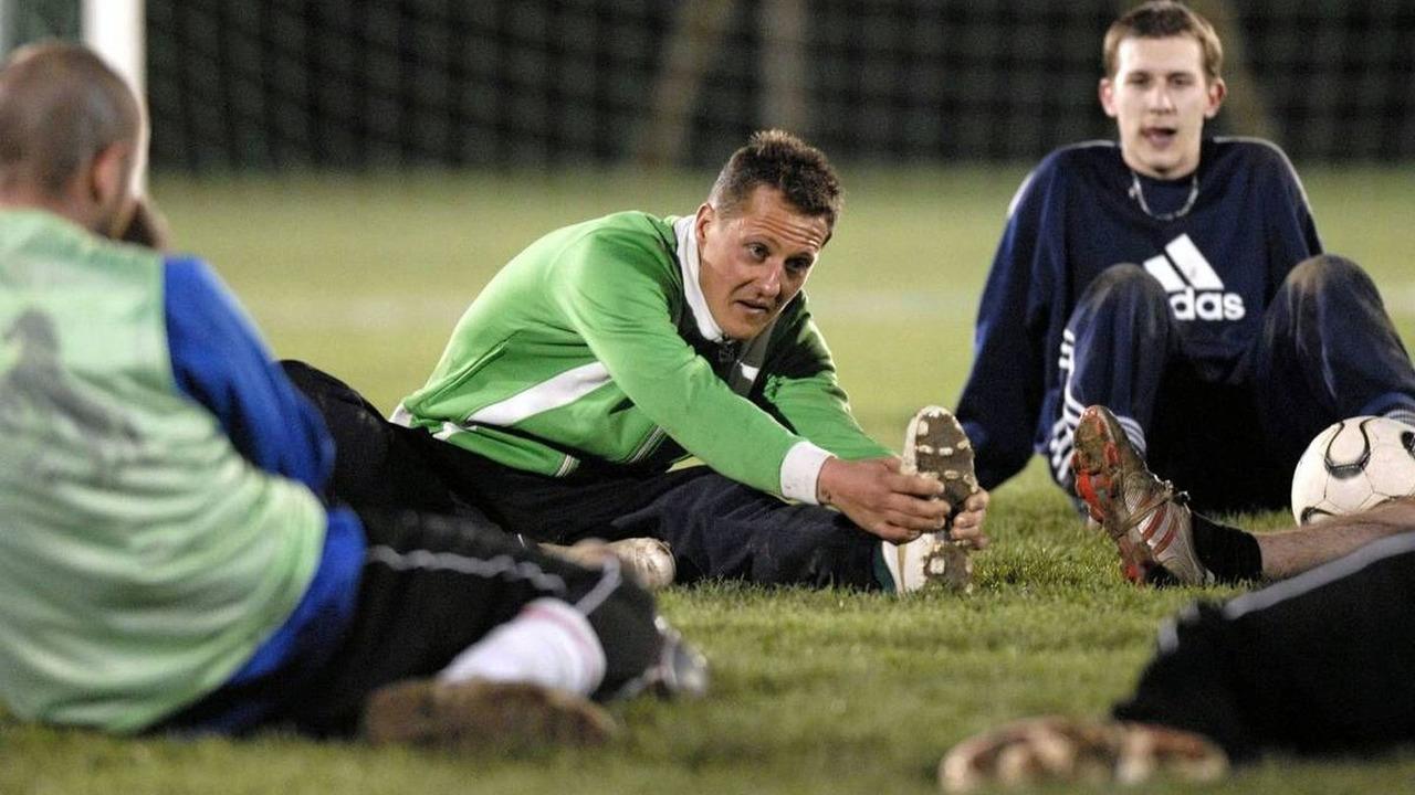 Michael Schumacher and FC Echichens (SUI) football training 08.2006