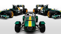 Caterham and Team Lotus T128 F1 car 27.04.2011
