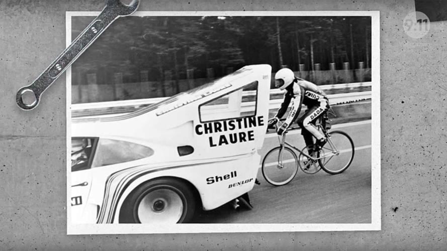 Une Porsche 935 Martini Racing pour un record... de cyclisme !