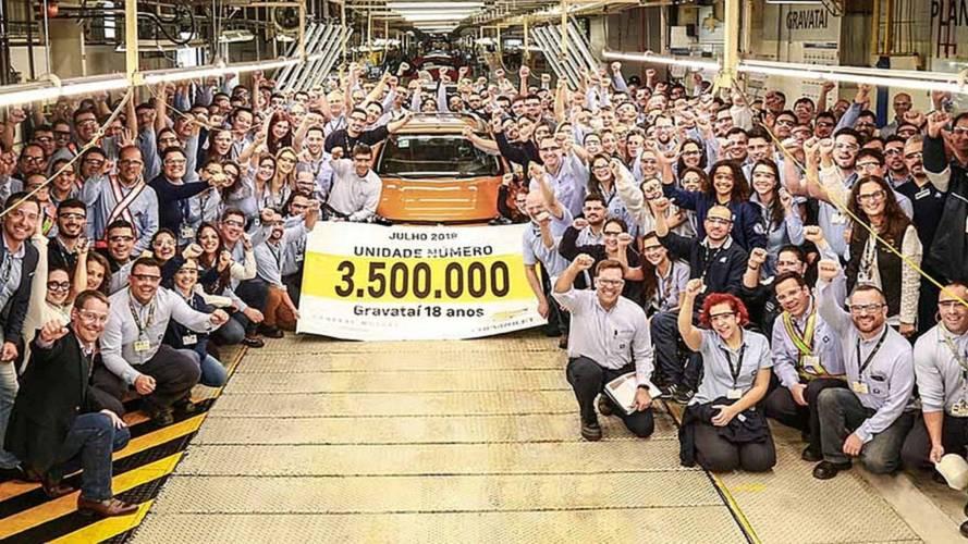 Fábrica da GM em Gravataí (RS) celebra 18 anos