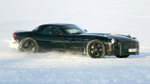Mercedes SLC mule during winter testing