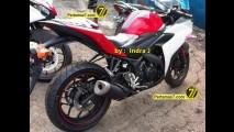 Flagra: nova Yamaha YZF-R25  250 em versão de produção