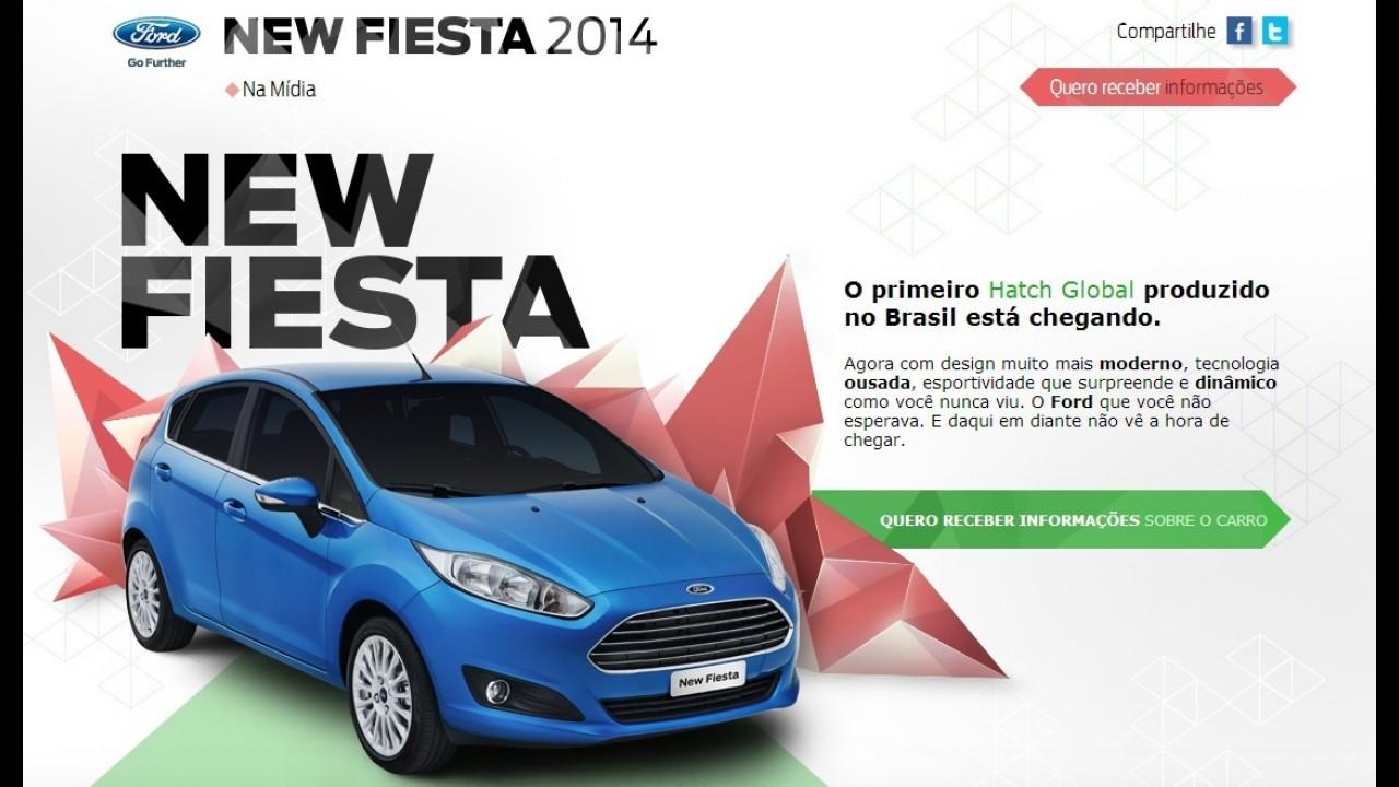 Com lançamento programado para abril, Ford New Fiesta 2014 já tem hotsite no Brasil