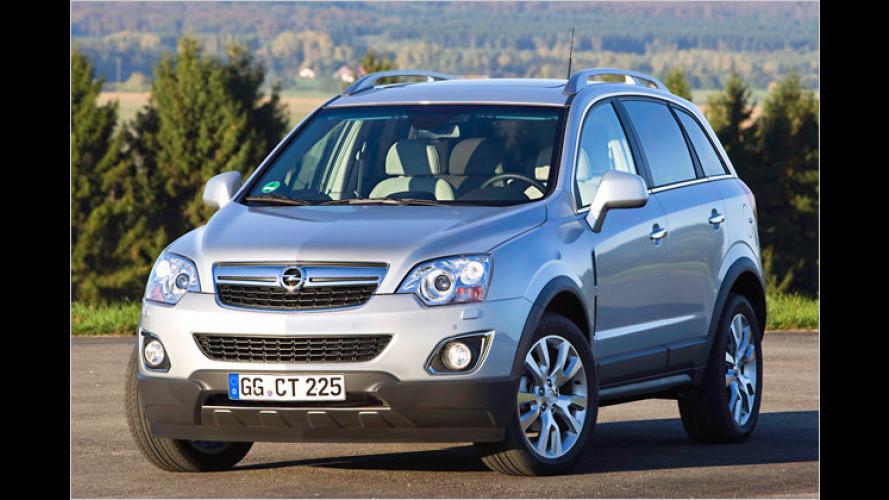 Opel Antara geliftet: Ab 2011 mit stärkeren Vierzylindern