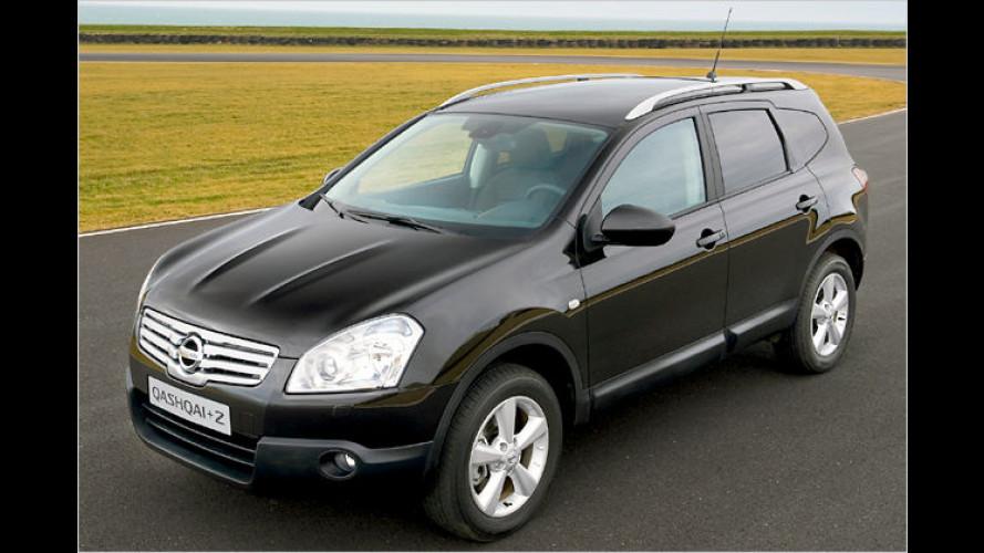 Nissan Qashqai+2: Neue Einstiegsmotoren