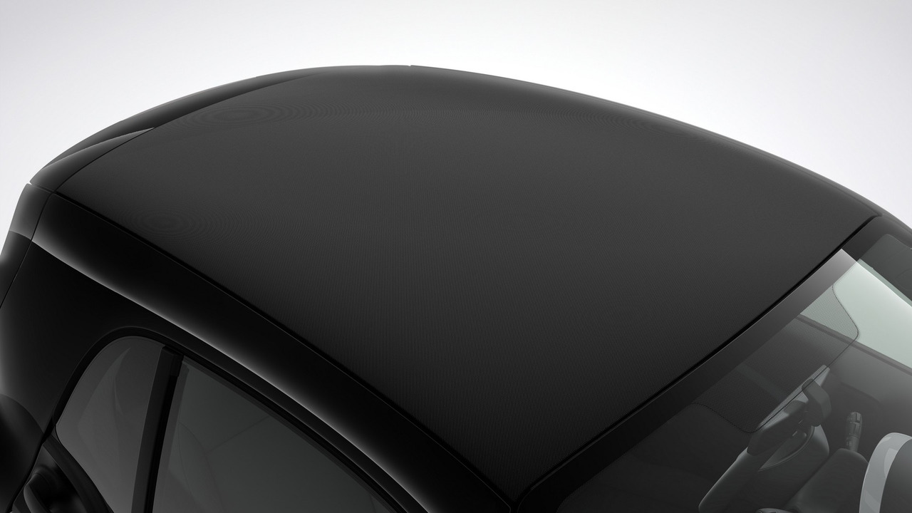 Smart ForTwo Coupe with fabric roof cover