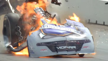 funny car explosion