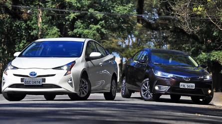 Comparativo Toyota Corolla Altis x Toyota Prius - Eu sou você amanhã
