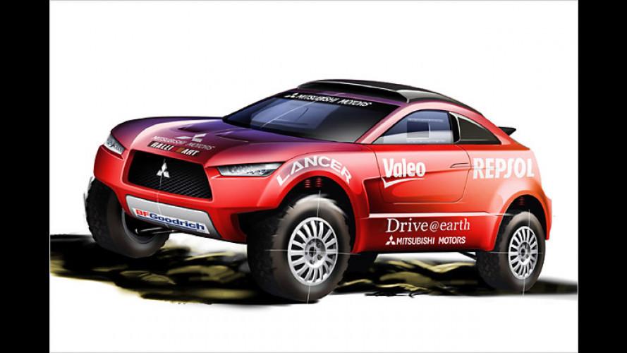 Mitsubishi zeigt neues Fahrzeug für die Rallye Dakar 2009