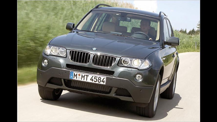 BMW X3 jetzt mit verbrauchsarmen Vierzylinder-Diesel