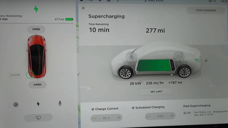 Watch Tesla Model 3 Charge At Supercharger