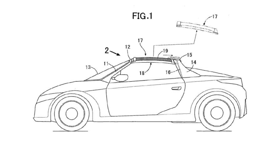 Honda, yeni bir targa tavan patenti aldı