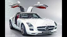 Revista revela o novo Mercedes-Benz SLS AMG Gullwing e suas portas estilo