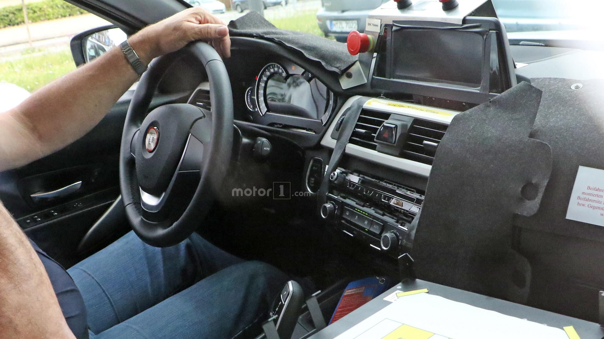 BMW Series Prototype Shows Off Unfinished Interior - Bmw 3 series interior