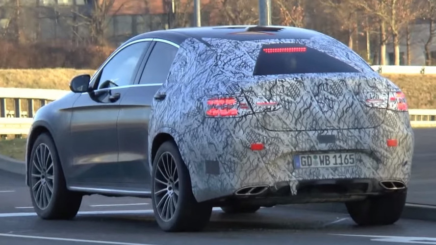 Mercedes GLC 450 AMG Coupe spied from behind [video]
