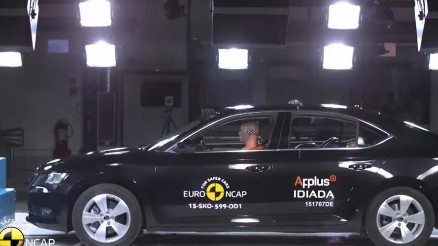 Skoda Superb obtains five-star rating in Euro NCAP crash tests [video]