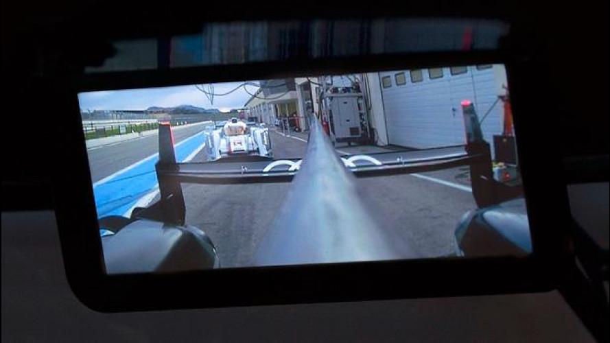 Audi: per le corse c'è lo specchietto digitale