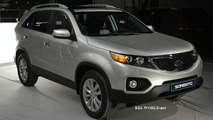 2010 Kia Sorento spied during photo shoot