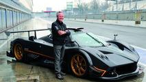 Horacio Pagani at Monza with Zonda R