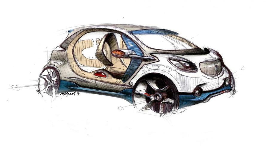Smart fourjoy design sketch revealed ahead of Frankfurt launch