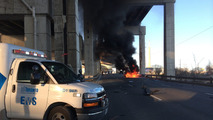 Lambo burns after crash in downtown Toronto