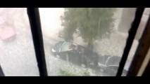 Vídeo: Granizo no meu carro não!!!!