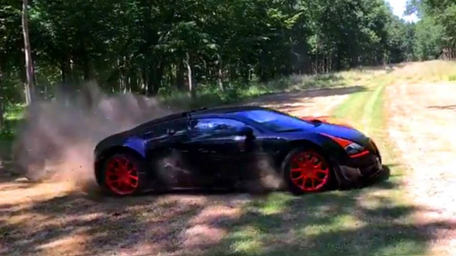 Bugatti Veyron Vitesse WRC Gets Dirty During Off-Road Run