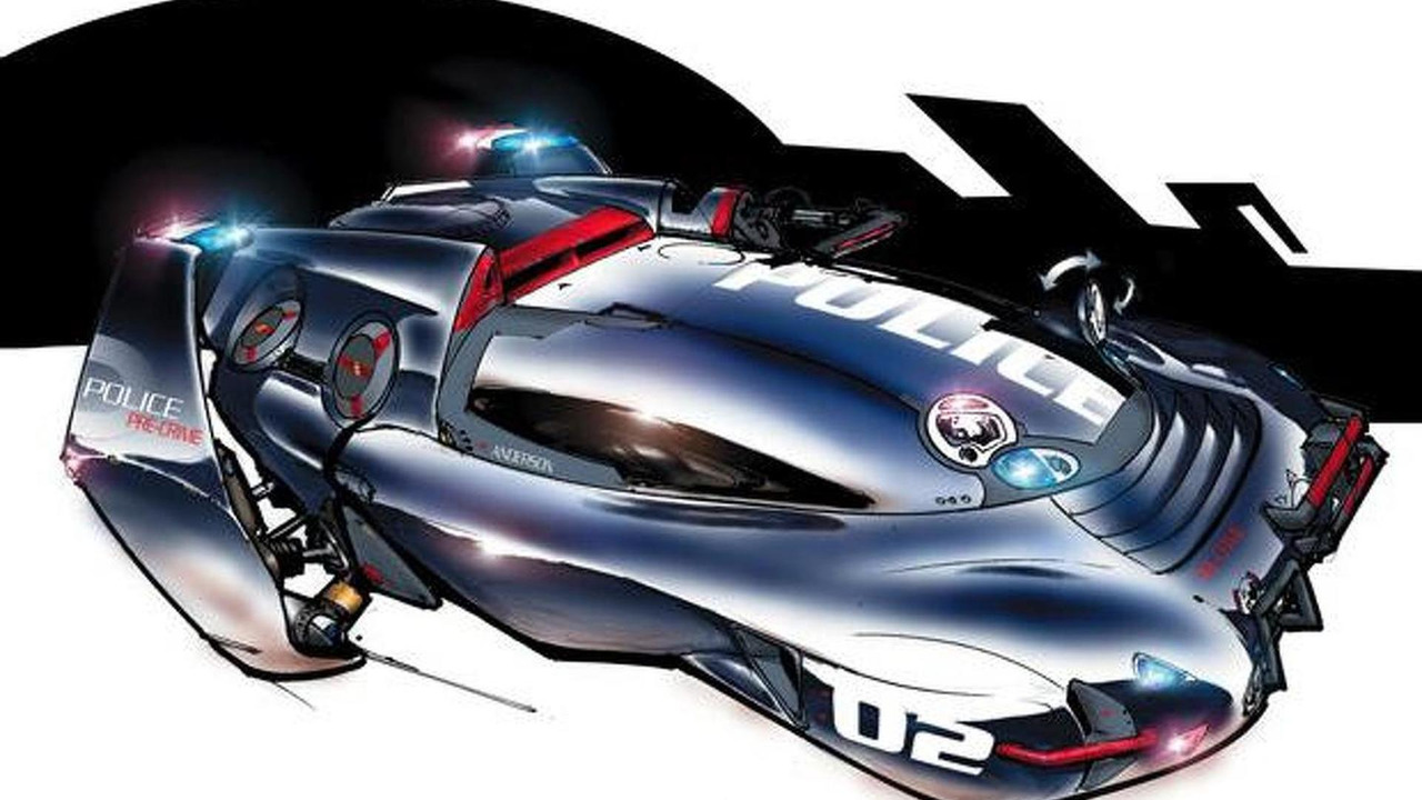 Police Interceptor design concept from Minority Report movie, 600, 07.09.2012