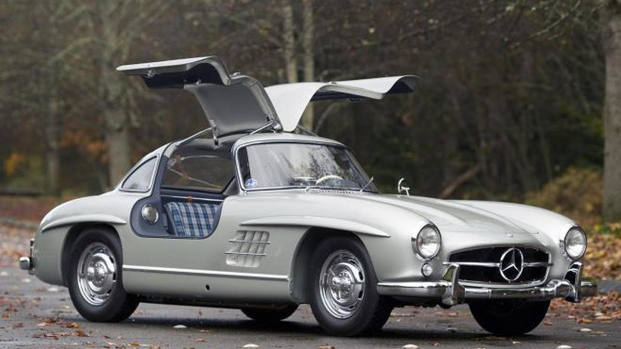 rare 1955 mercedes benz 300 sl alloy gullwing sells for photos. Black Bedroom Furniture Sets. Home Design Ideas
