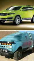 Top: Kia KND-4 Concept; Bottom: Tango & Cash Monster Truck