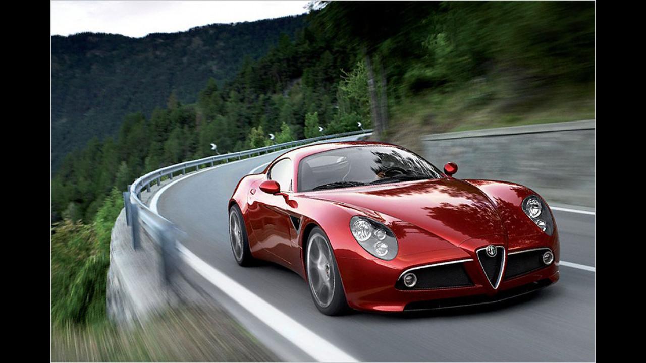 8C: Nicht mehr als 13 Stück wurden 2013 von dem raren Alfa-Romeo-Sportler neu zugelassen