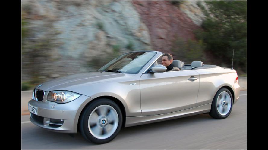 Oben ohne: Im BMW 125i Cabrio zum Fahrspaßhöhepunkt