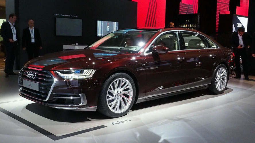 2018 audi a8 has lasers foot massagers and a big price tag. Black Bedroom Furniture Sets. Home Design Ideas