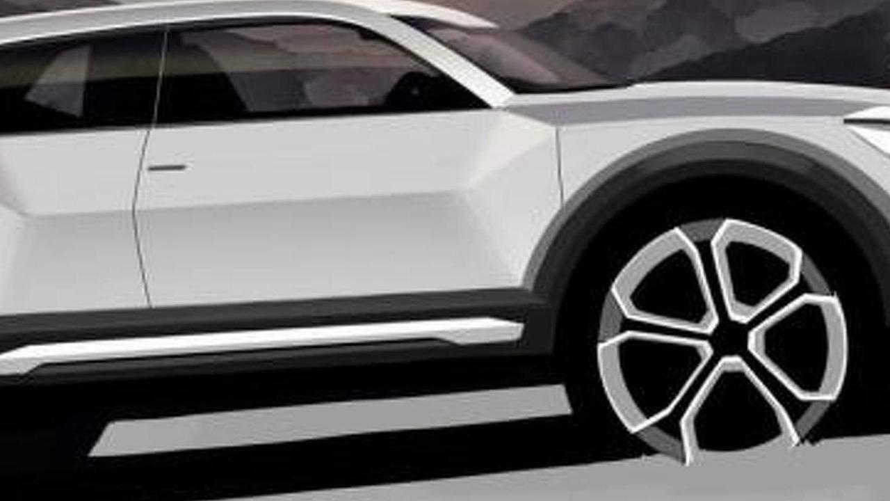 2016 Audi Q1 official teaser sketch