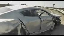 Essa doeu! Vídeo flagra acidente com Aston Martin Rapide
