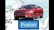 Ford Fusion atualizado será apresentado em janeiro, no Salão de Detroit