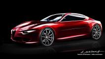 Alfa Romeo Giulia e le altre: i disegni di Alessandro Masera