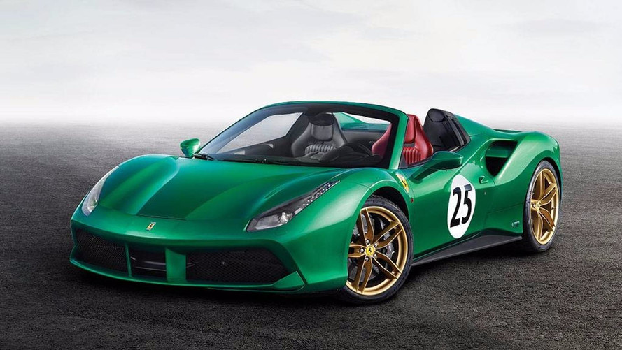 ench res la ferrari 488 spider green jewel est vendre. Black Bedroom Furniture Sets. Home Design Ideas