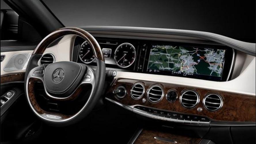 Nuova Mercedes Classe S, la strumentazione tablet a doppio schermo