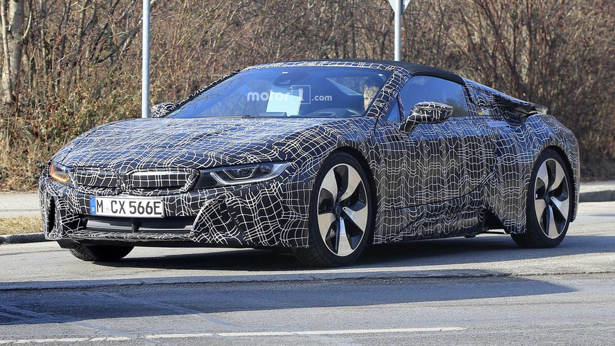 2018 BMW i8 Spyder Prototypes Spied With The Top Up And Down