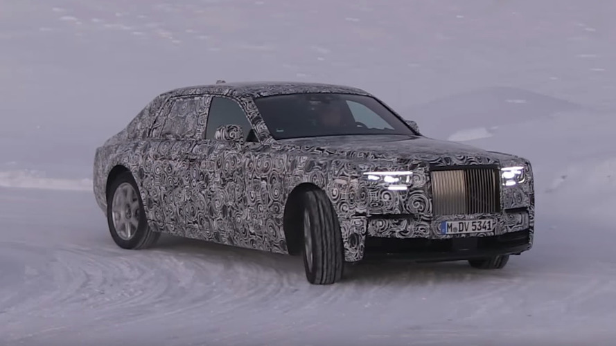 2018 Rolls-Royce Phantom: Watch It Winter Testing