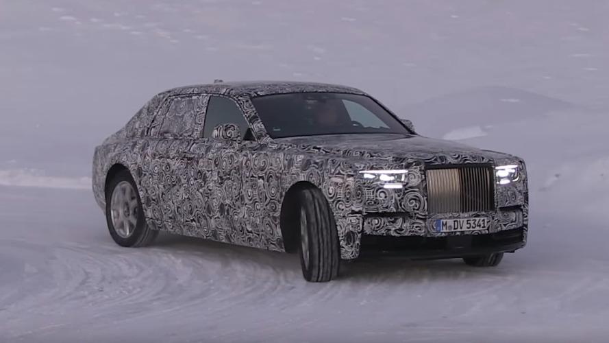 2018 Rolls-Royce Phantom Spied Cruising In A Winter Wonderland